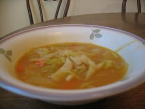 cabbage, bean and pumpkin soup