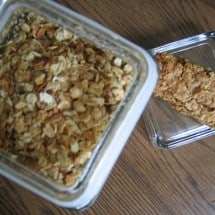 Recipe Connection:  Homemade Granola and Granola Bars