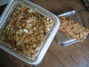granola and granola bars