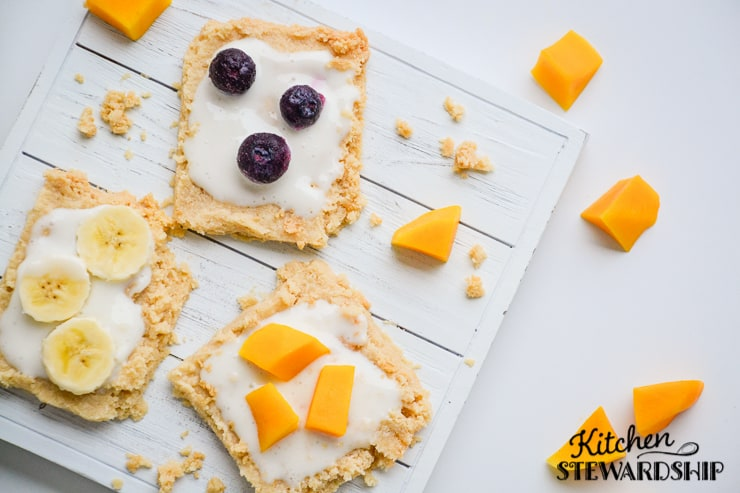 Fruit pizza just got a lot healthier! Made with real ingredients it will soon become a family favorite.