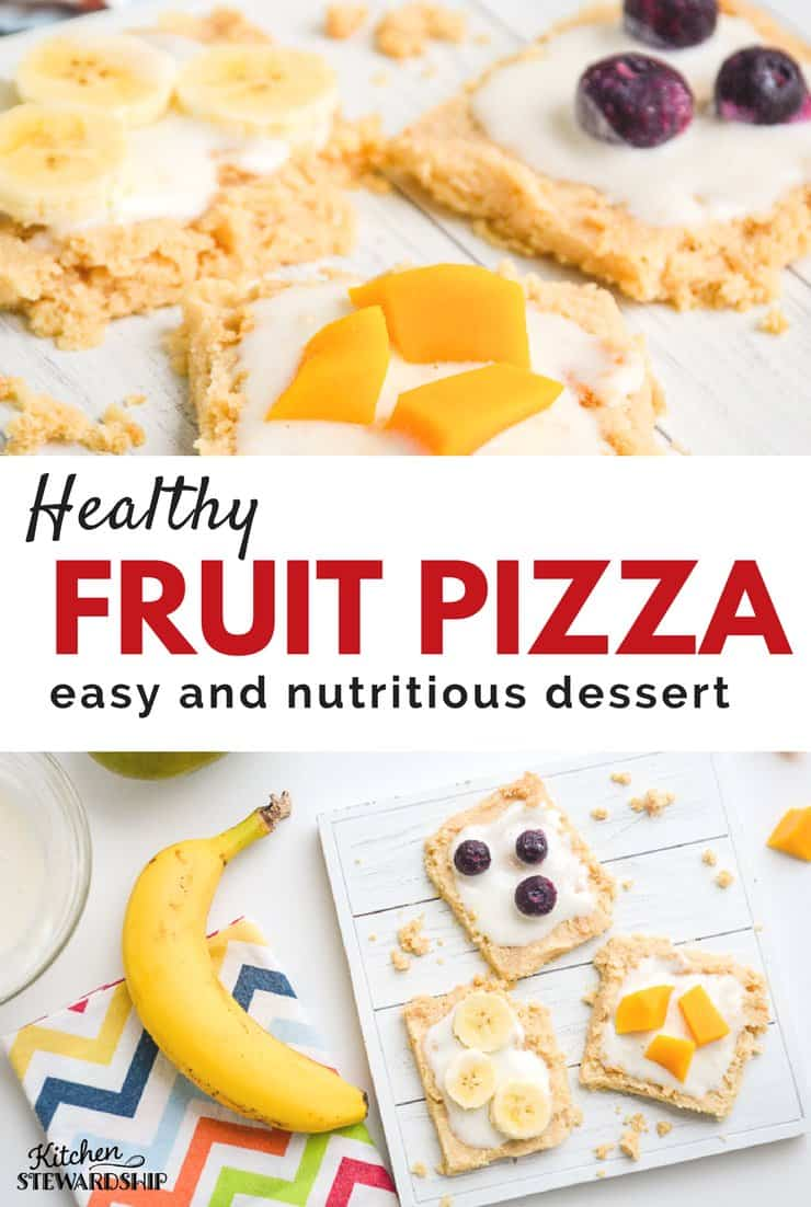 Fruit pizza just got healthy! Made with 100% whole grain, probiotic frosting and very little sweetener, it will soon become a family favorite.