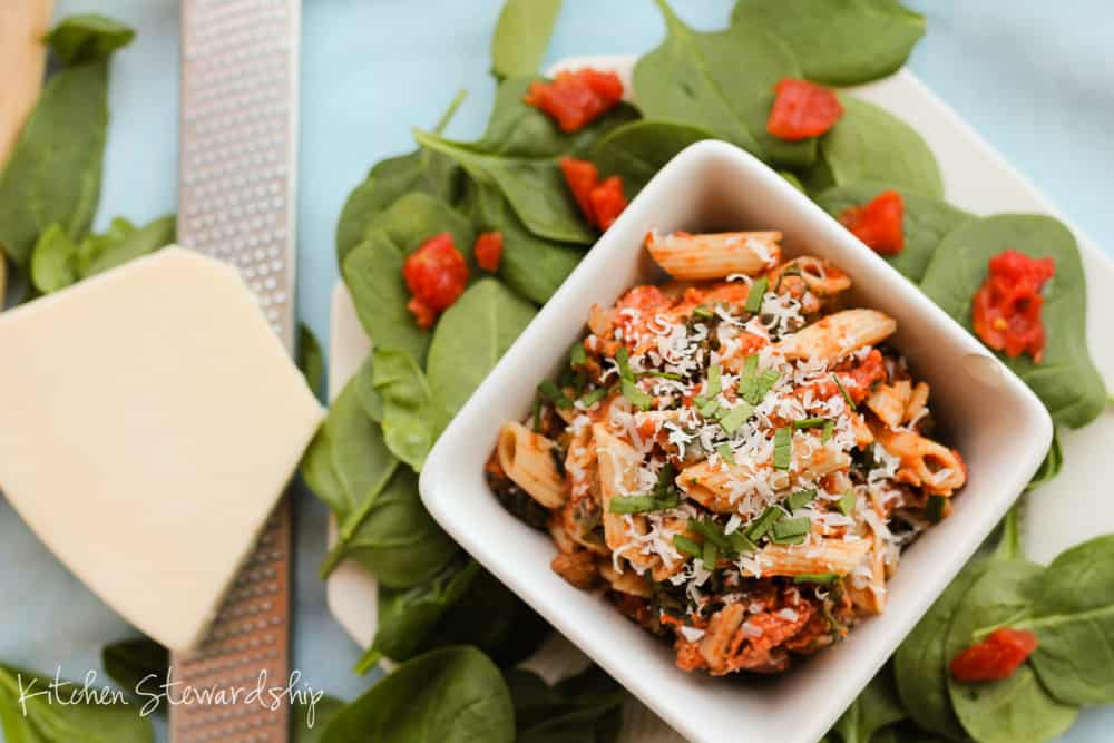 Sausage Spinach Pasta Toss (17)