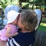 Kisses for Grandma!