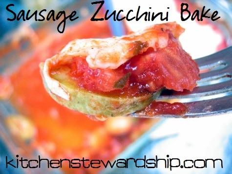 Sausage Zucchini Bake