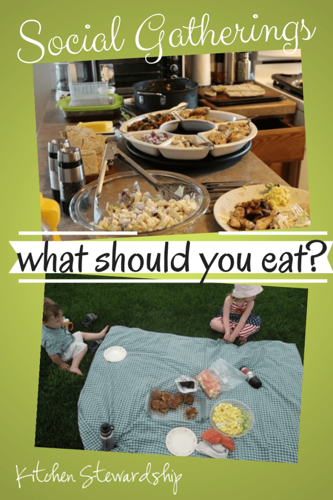 Social Gatherings - What should you eat? Ways to to make 'better than horrible' choices at social gatherings.