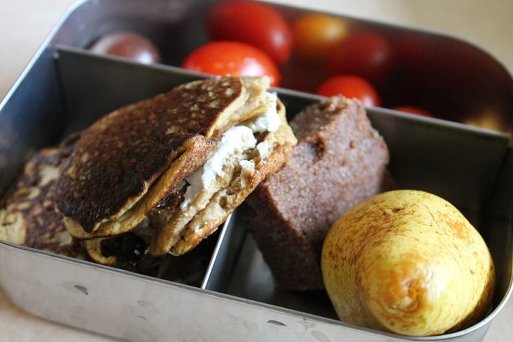 Ever tried making sandwiches with pancakes? My kids love these!