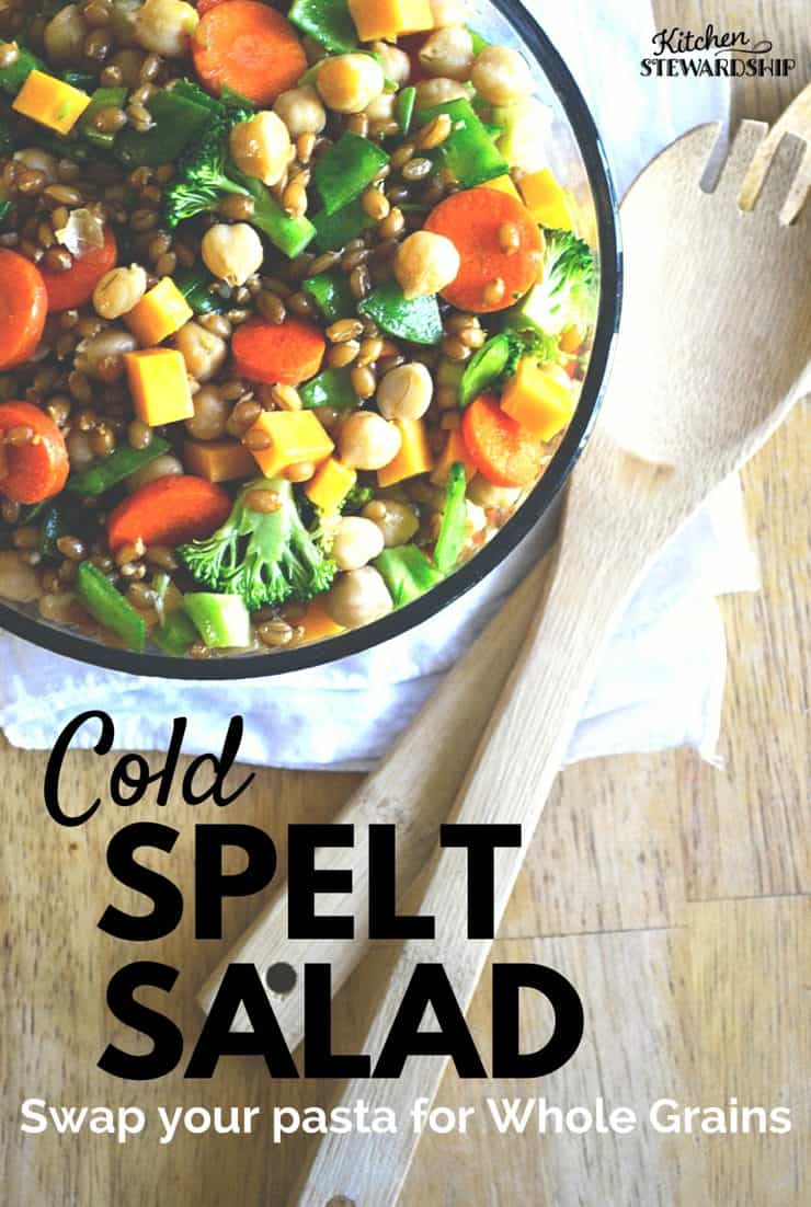 Cold Spelt Salad Recipe - Swap your pasta for whole grains in this cold side dish that is great for picnics.