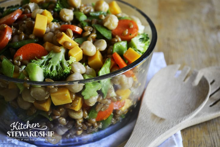 Cold Spelt Salad for parties and potlucks