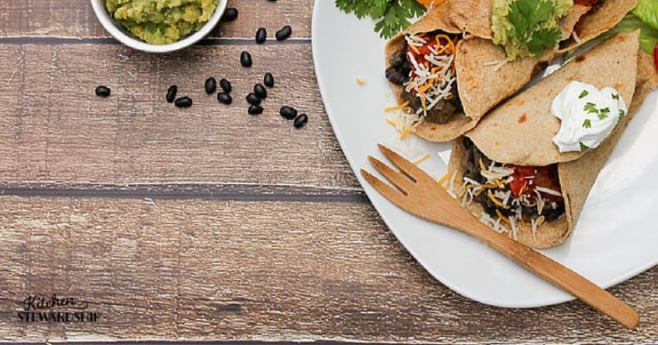 Veggie Bean Burritos Recipe - nourishing, simple meal - makes a ton for leftovers or frozen meals!