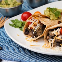 Veggie Bean Burritos Recipe (meatless)