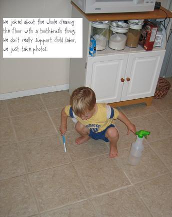 paul cleans floor