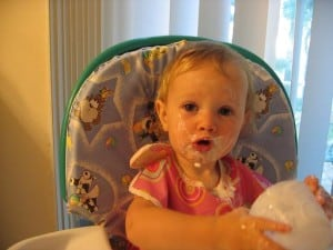 yogurt all over