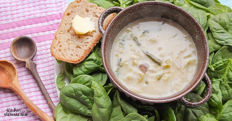 Recipe For Cream Of Potato Or Vegetable Soup