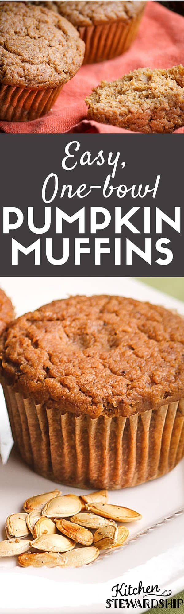 Easy and delicious pumpkin muffin recipe with lots of healthy upgrades!