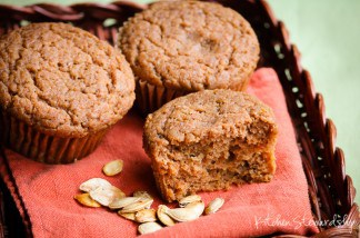 An easy fall favorite, this One-bowl Pumpkin Muffin Recipe is full of healthy upgrades!