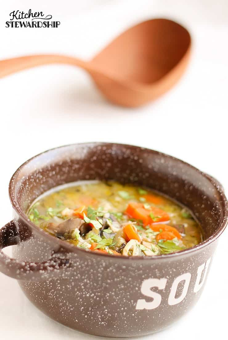 Do you eat leeks very often? Give them a try with homemade chicken, barley and leek soup.