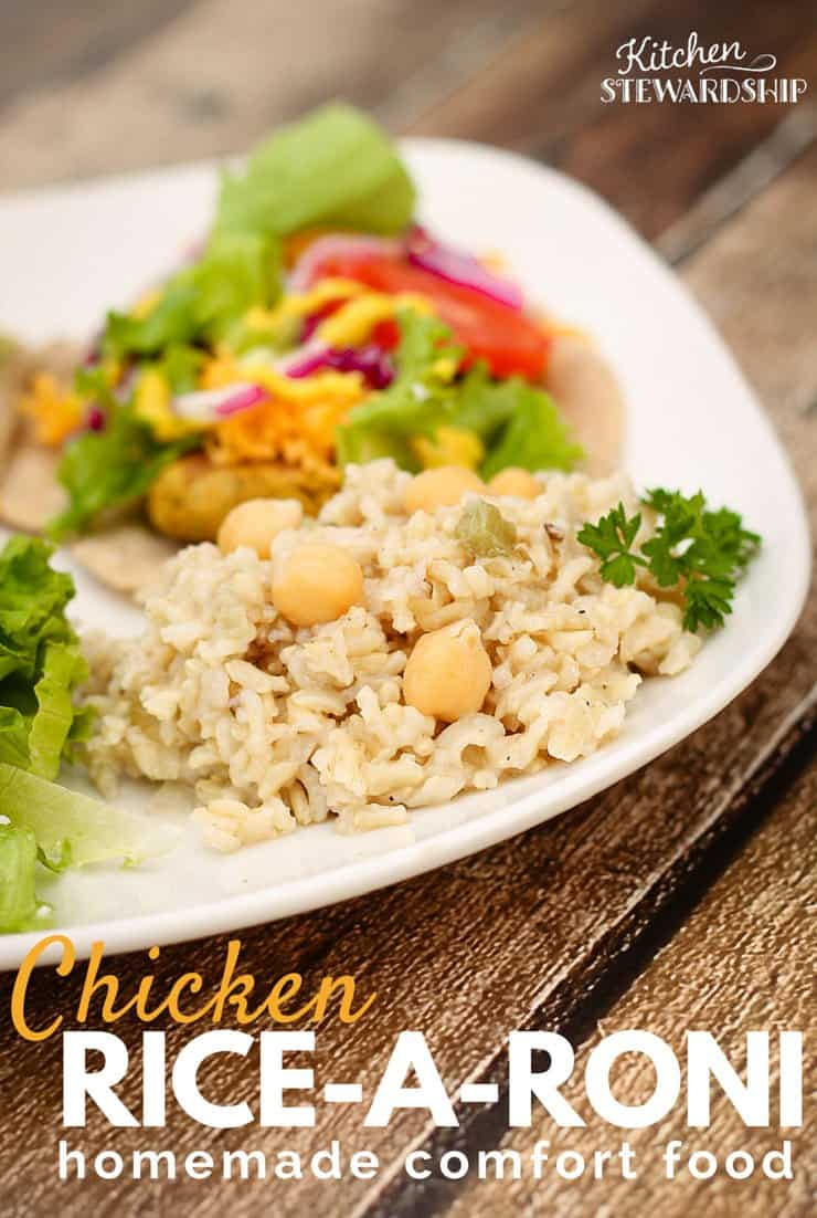 You don't have to give up childhood favorites when making the switch to real food. I think this Homemade Chicken Rice-A-Roni is even better than the box!