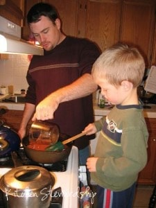Homemade Hamburger Helper - Daddy and Son