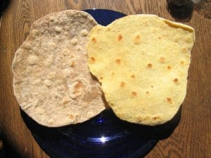 homemade whole grain tortilla recipe