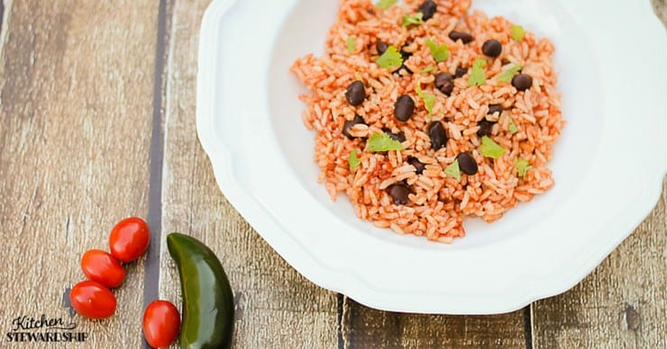 Easy homemade Mexican beans and rice - no boxes needed! Super easy dinner idea.