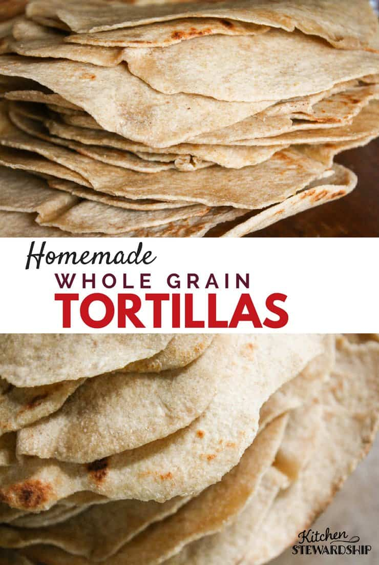Skip the store-bougth tortillas with vegetable oils and ingredients you can't pronounce. Instead try making homemade tortillas. This simple whole grain tortilla recipe is the perfect place to start.