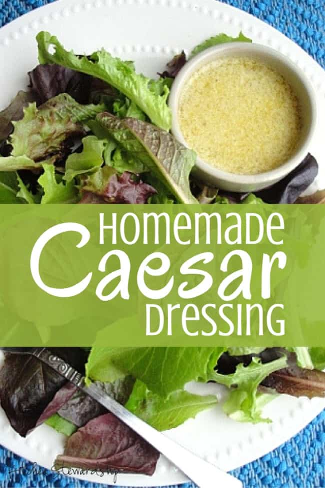 There's no simpler real food switch to make than making your own salad dressings. This Homemade Caesar Dressing is a great start and is so yummy!