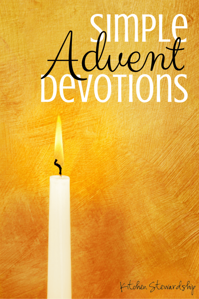 The Advent Daily Dose is a very short reflection, encouragement, lesson, or challenge for you to read every weekday of Advent. This is great for those of us who are forever misplacing our little Advent devotional books or forgetting to address them during the day.