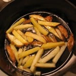 french fries cooking