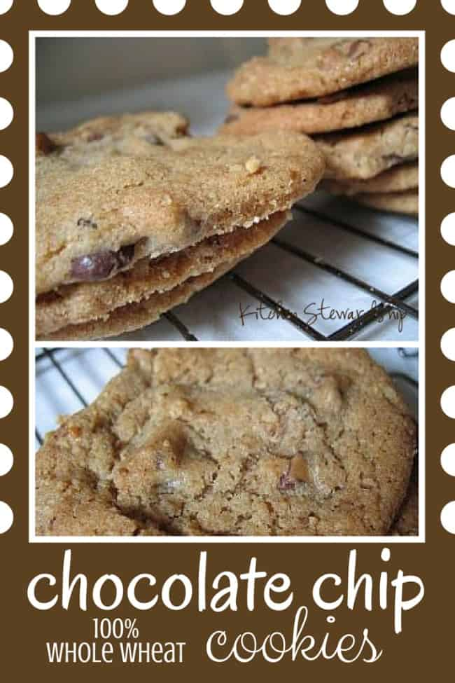 ALL Whole Wheat Chocolate Chip Cookies - You'll just die for these healthy homemade chocolate chip cookies. No one will ever guess that the recipe is 100 percent whole wheat! The coconut oil makes them truly melt in your mouth delicious.