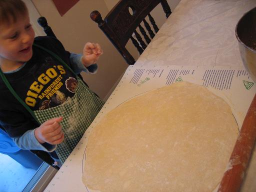 my little helper rolling out the dough for the kifli recipe
