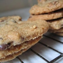 Healthy Holiday Desserts: 100% Whole Wheat Chocolate Chip Cookies