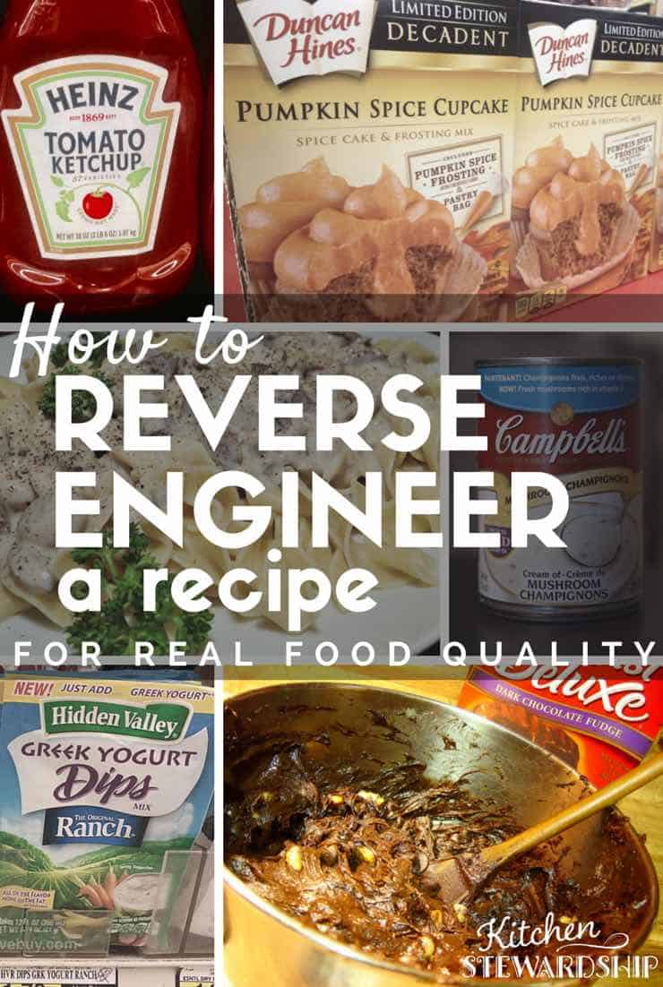 How to Reverse Engineer a Recipe
