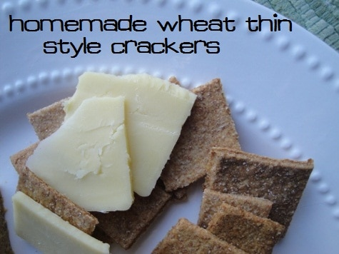 Homemade Whole Wheat Crackers :: via Kitchen Stewardship