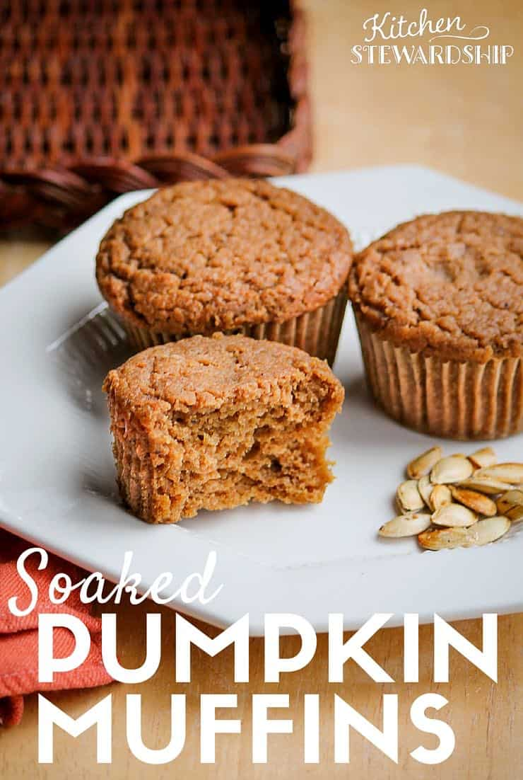 So good with properly soaked grains-- you must try this soaked version of pumpkin muffins!