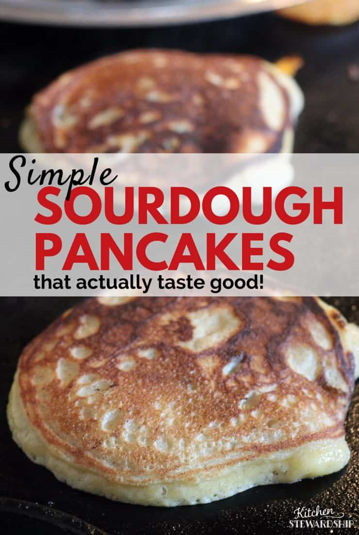 Looking for a new way to try sourdough? These whole grain sourdough pancakes make the perfect breakfast. And they aren't too sour!