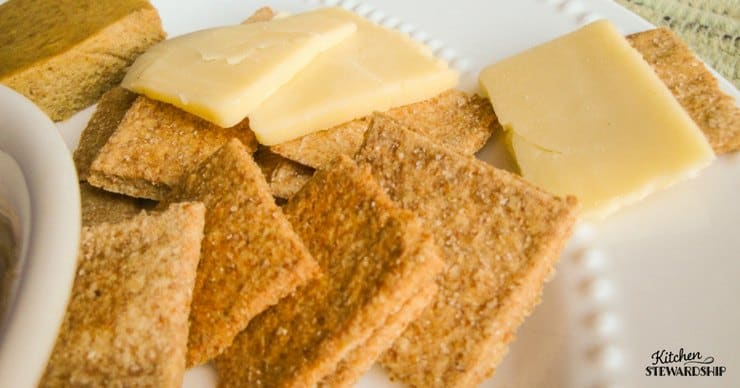 Making your own crackers is much easier than you think! This whole wheat version is sure to please everyone.