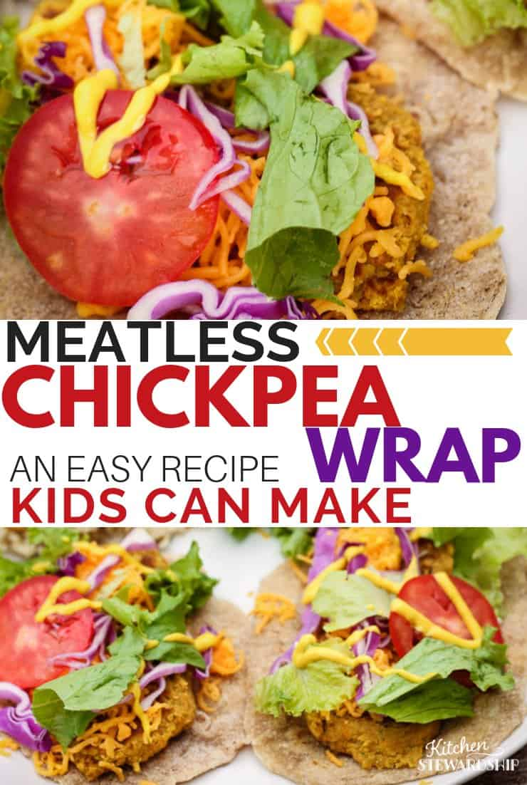 Chickpea wrap kids can make
