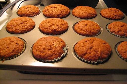 Pumpkin muffins using the discard from sourdough starter