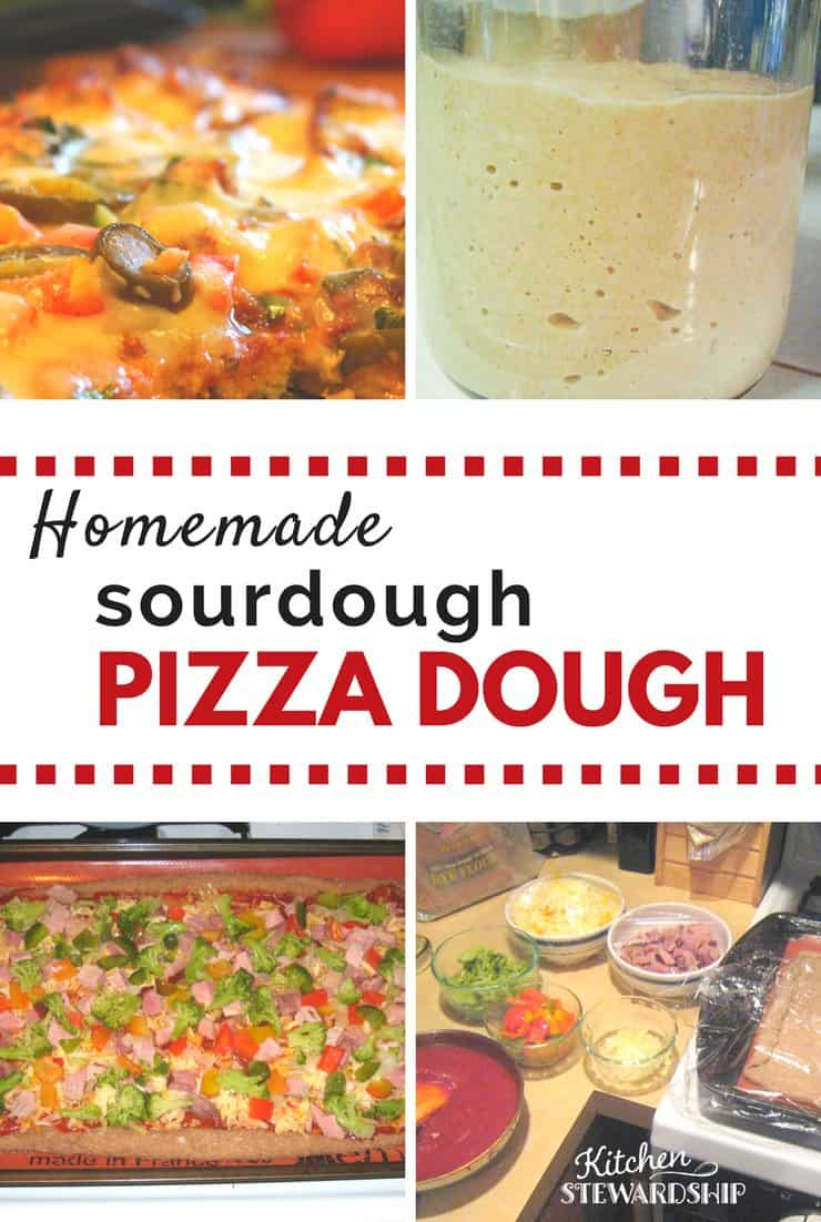 Everybody loves pizza! Add nutrition to your pizza night with this easy, homemade whole grain sourdough pizza crust.