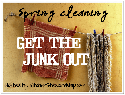 Get the Junk Out - a spring cleaning challenge hosted by Kitchen Stewardship