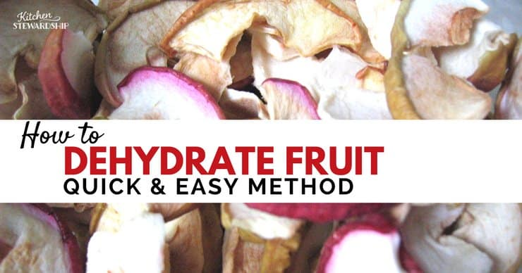 How to dehydrate fruit.