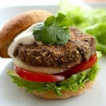 Mexican Style Black Bean Burger Recipe