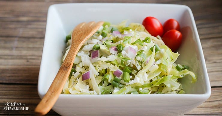 Frugal but still good enough to serve at a party...cabbage salad recipe. Your guests will appreciate having this delicious option! Healthy Football Game Appetizers that won't take forever to make or cost much