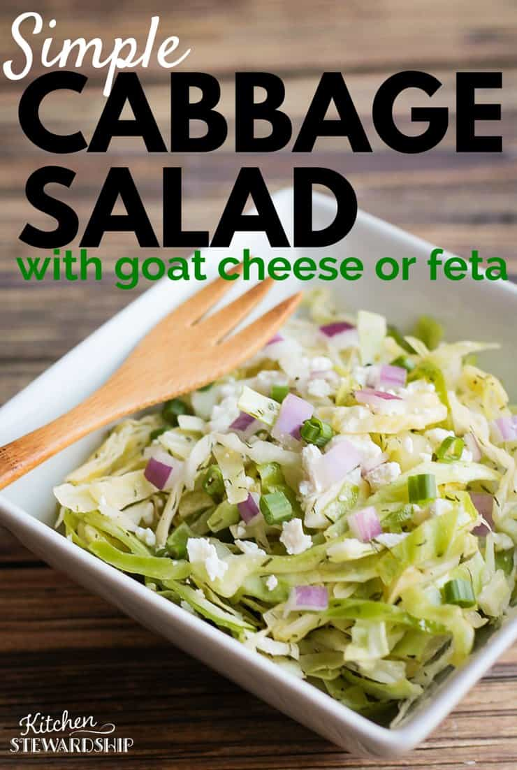 Cabbage Salad With Goat Cheese Or Feta