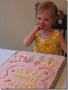leah with cake