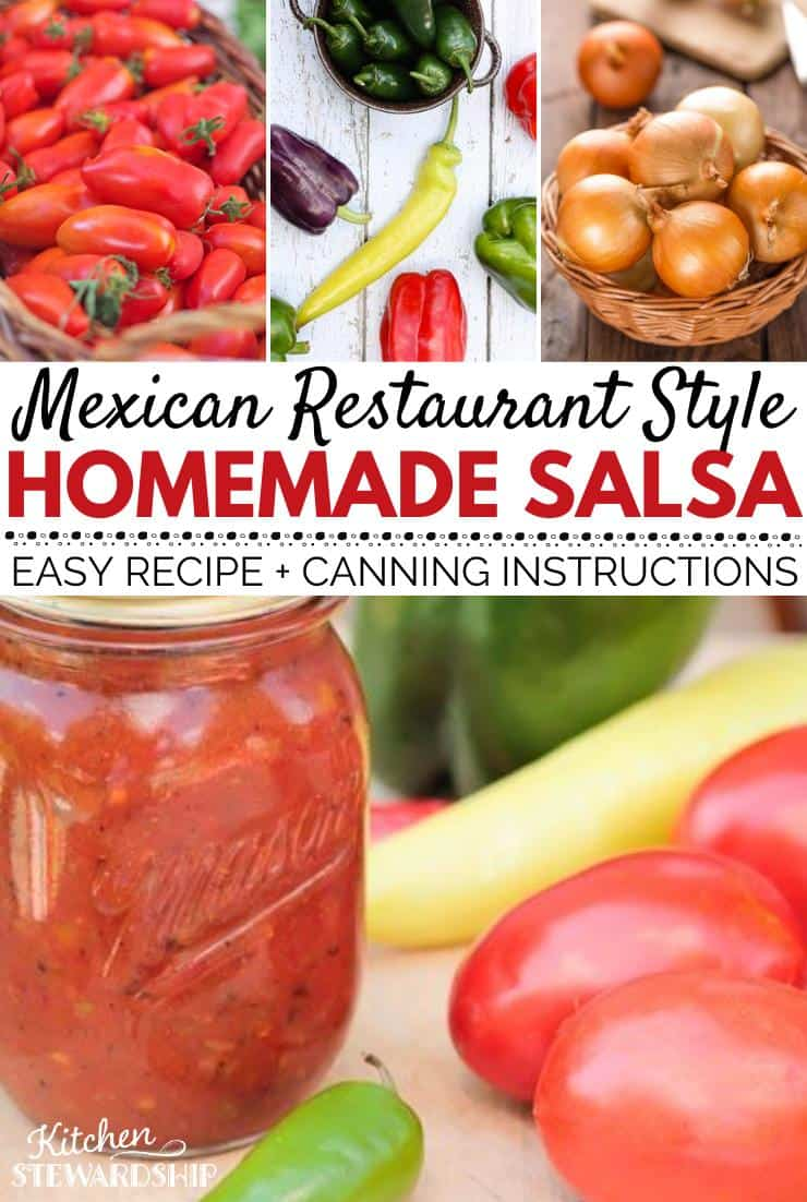 Mexican Restaurant Style Homemade Salsa. Easy Recipe and Canning Instructions.