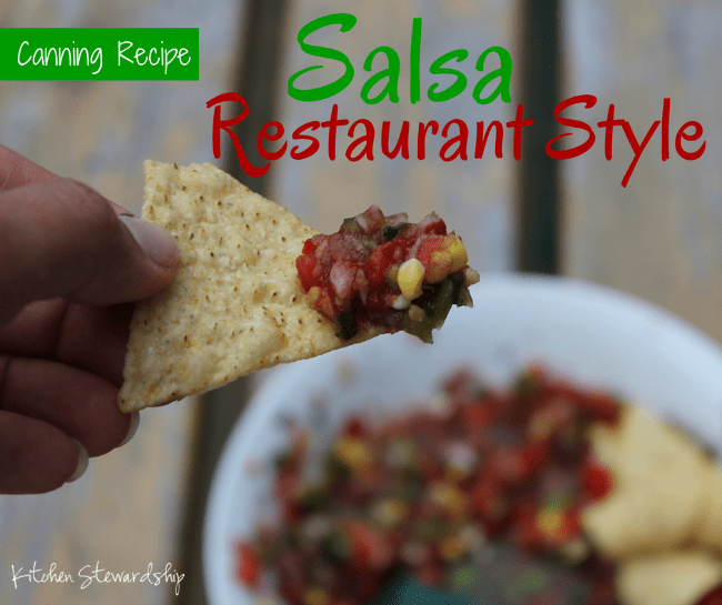 Restaurant Style Salsa and Canning Recipe