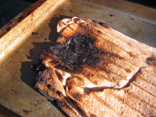 burnt grilled pizza