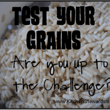 The Test Your Grains Challenge Survey is Here!