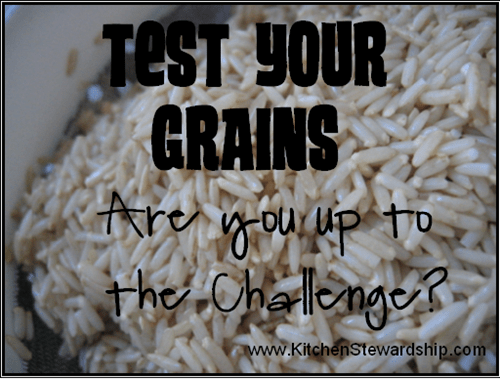test your grains challenge